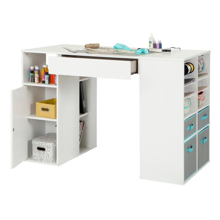 South Shore Crea Counter-Height Craft Table With Storage