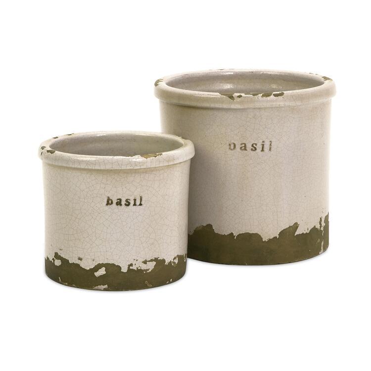 Basil Sage Pots Set of 2