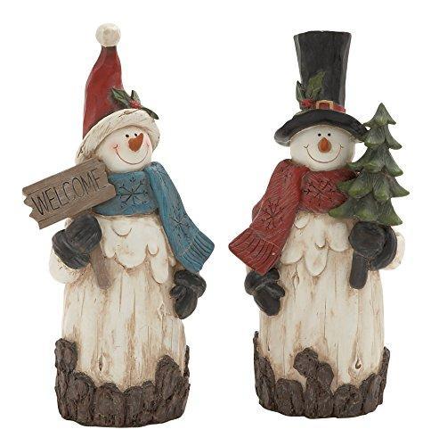 Lovely & Unique 2 Assorted Snowmen