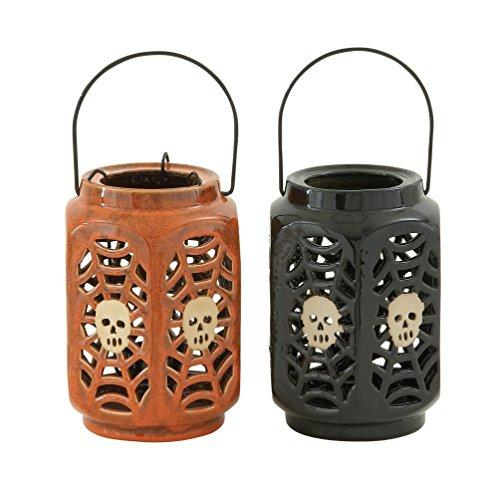 Spellbinding 2 Assorted Ceramic Halloween Lantern