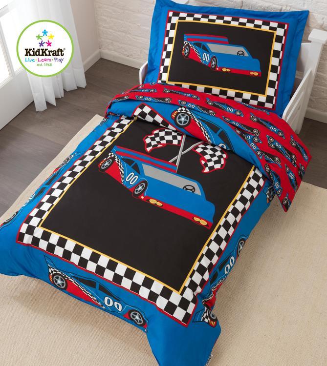 Racecar Toddler Bedding Set