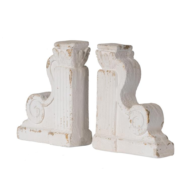 A&B Home Bookends - Distressed White - Set of Two