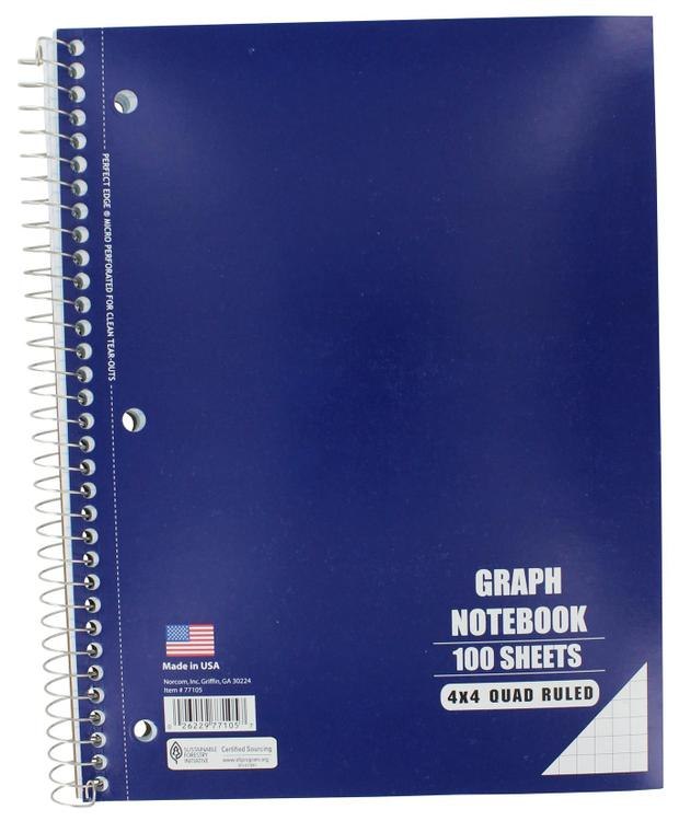 77105-12 Graph Notebook 10.5