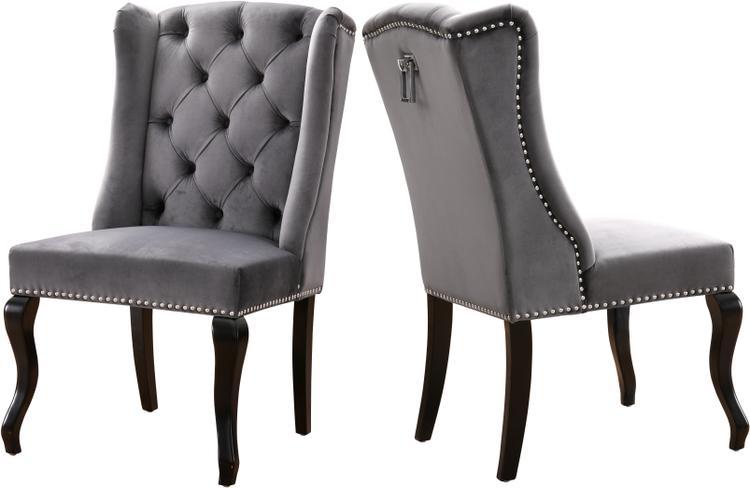 Suri Grey Velvet Dining Chair, Set of 2