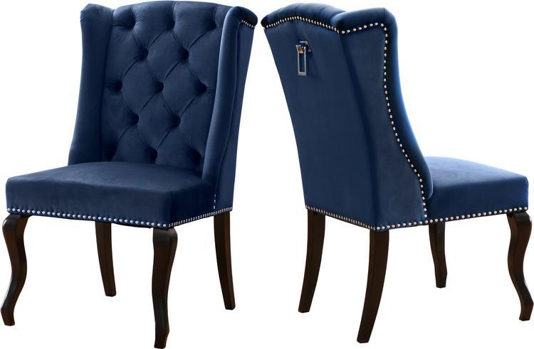 Suri Navy Velvet Dining Chair, Set of 2