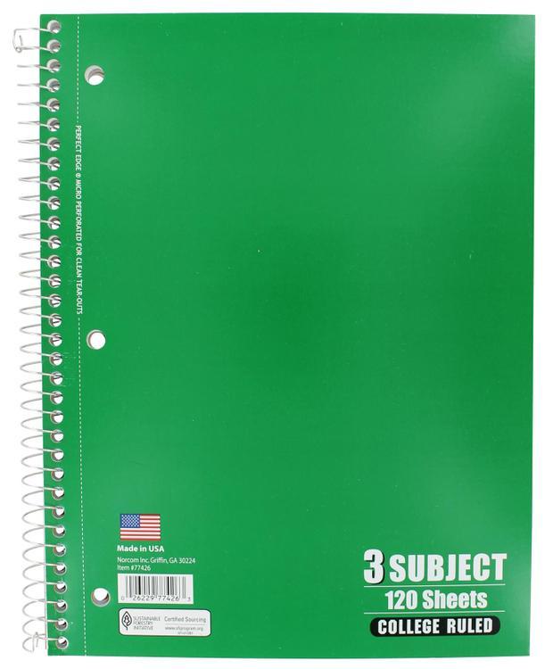 77426-12 Notebook 3Sub 10.5X8