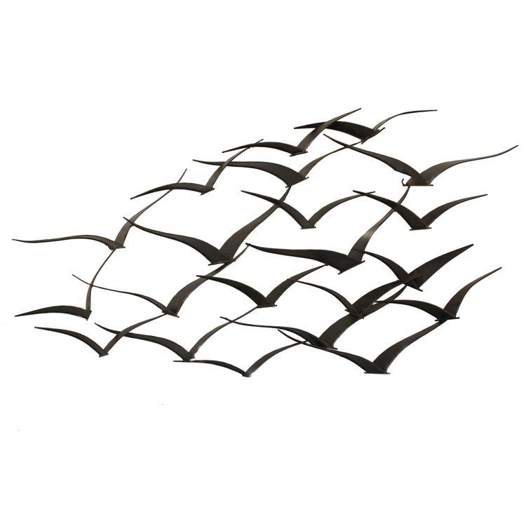 Handcrafted Flock of Birds Metal Wall Art