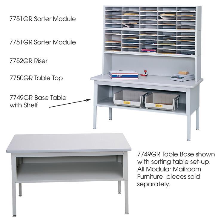 E-Z Sort® Sorting Table, Mailroom