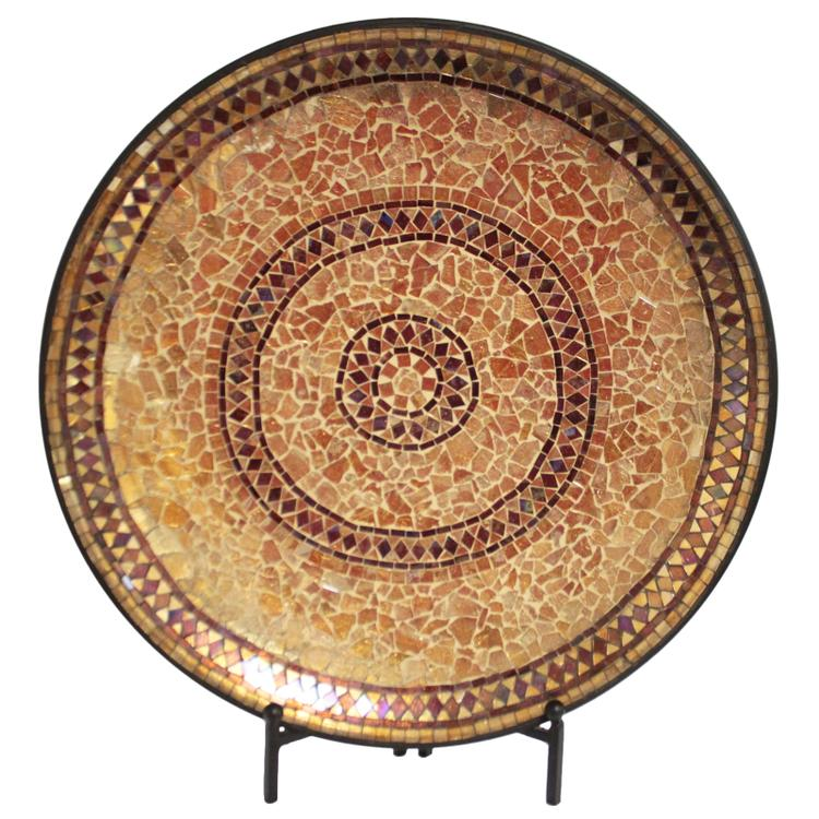 Decorative Handcrafted Mosaic Plate with Stand
