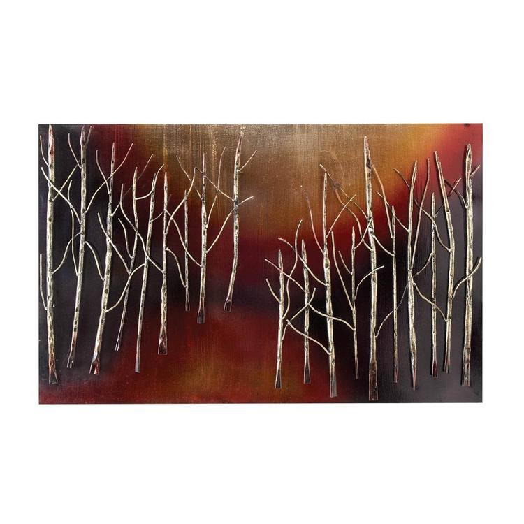 Hand Crafted Abstract Trees Metal Wall Art Decor