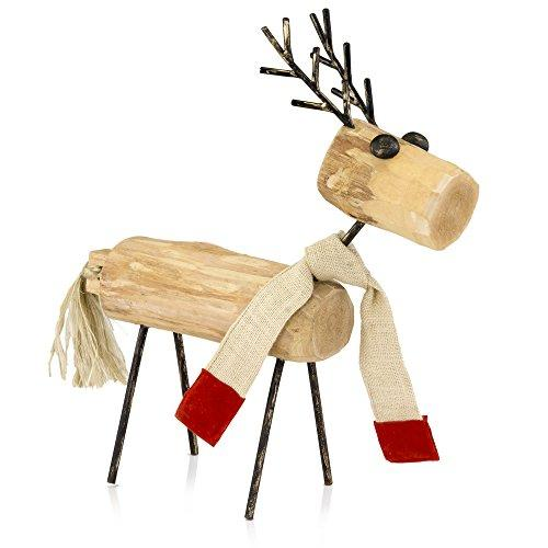 Modern Day Accents Reno Wood Reindeer