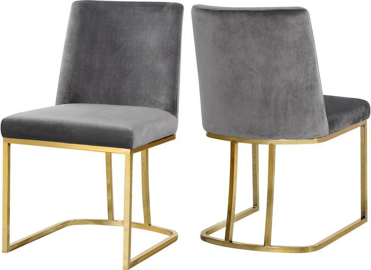 Heidi Grey Velvet Dining Chair, Set of 2