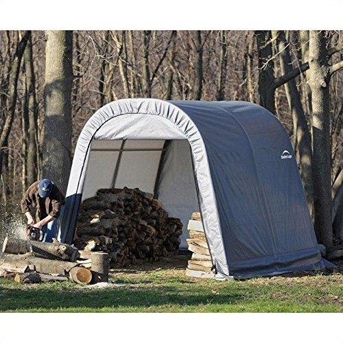 ShelterLogic 10x8x8 Round Style Shelter, Grey Cover [Item # 77803]