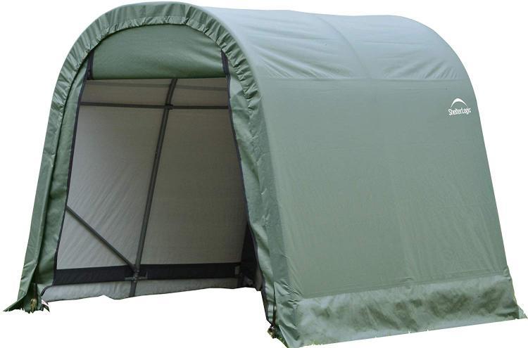 ShelterLogic 11x12x10 Round Style Shelter, Green Cover [Item # 77827]