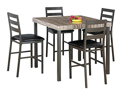 Milton Green Stars Victoria  40-inch Square Dining Table, 2 Tone