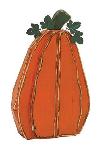 78636 Simple Orange Wood Metal Pumpkin