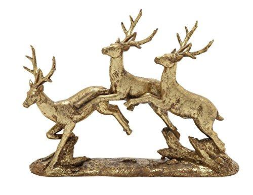 Stylish And Wonderful Golden Deer Sculpture