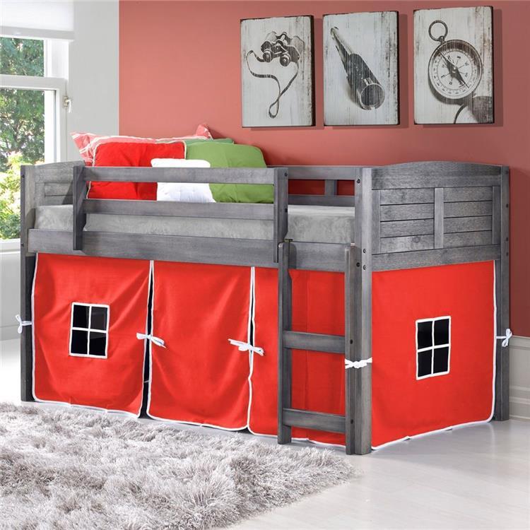 Donco Kids Louver Low Twin Loft Bed