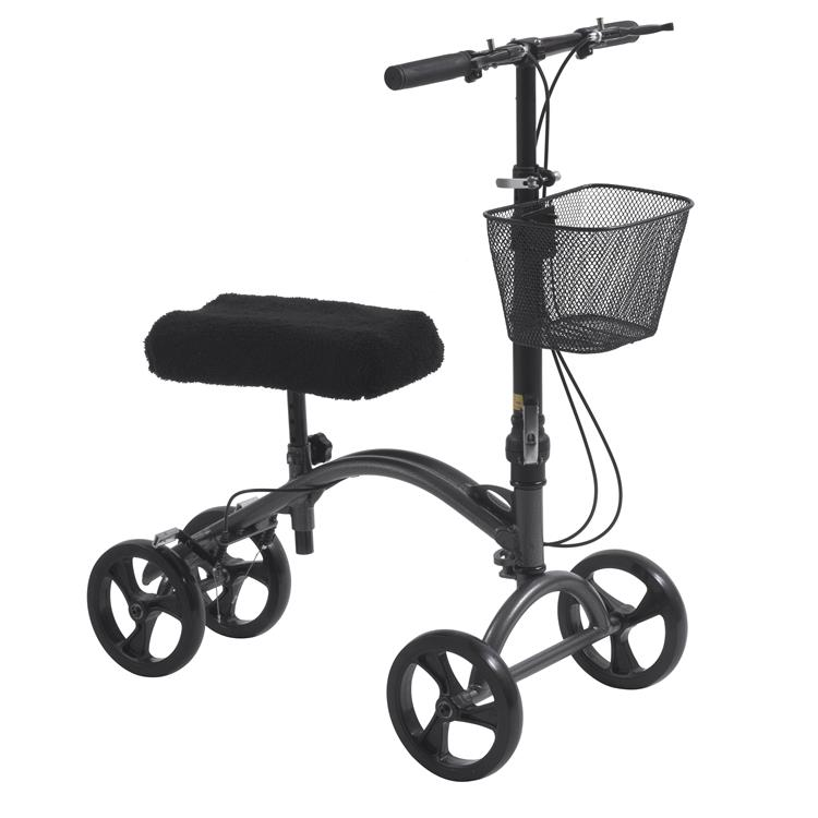 Drive Medical DV8 Aluminum Steerable Knee Walker Knee Scooter Crutch Alternative [Item # 790A]