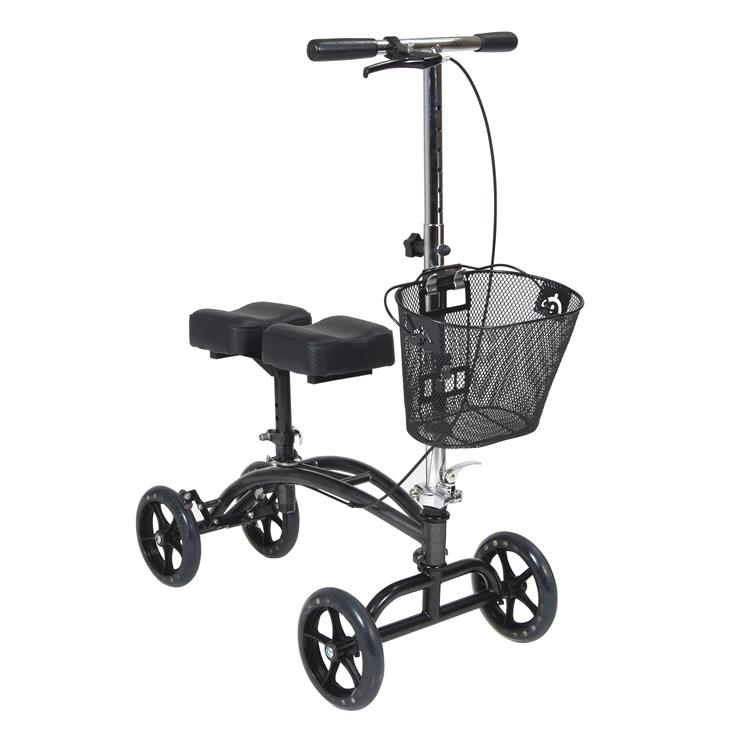 Drive Medical Dual Pad Steerable Knee Walker Knee Scooter with Basket