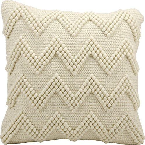 Lifestyle Ivory Large Chevron Pillow 20