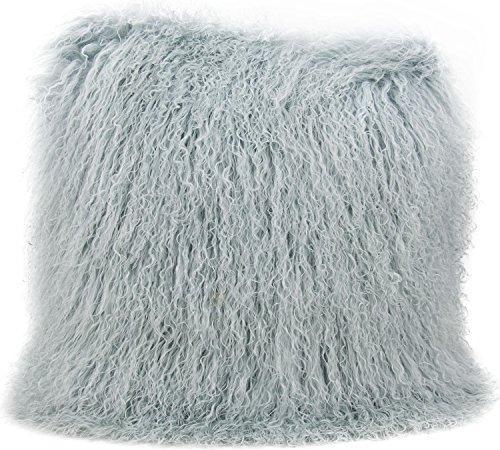 Couture Fur Celadon Tibetan Sheepskin Pillow