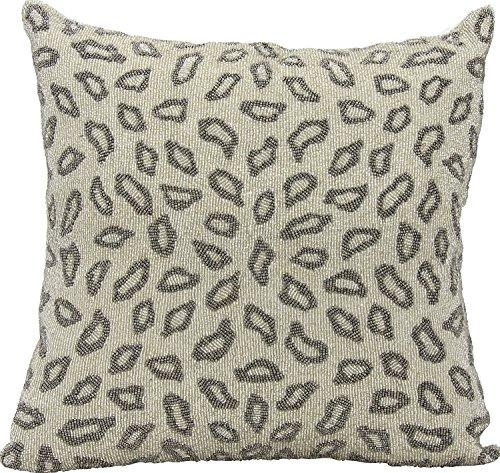 Luminescence Pewter Beaded Leopard Pillow
