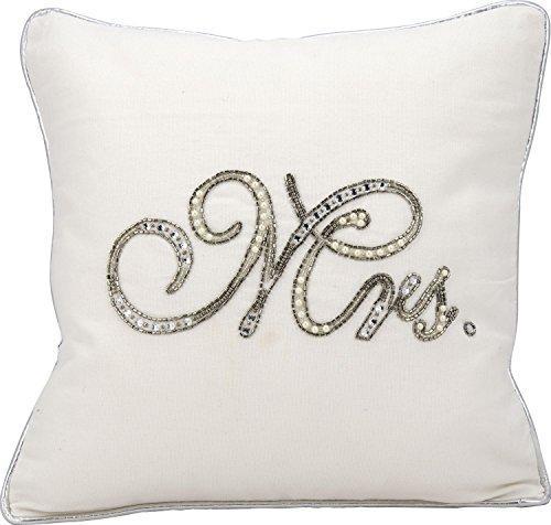 Kathy Ireland Pillow White Beaded Mrs. Pillow