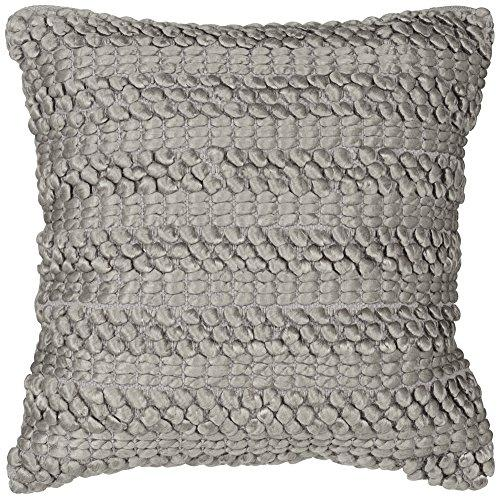 Lifestyle Silver Grey Woven Stripes Pillow