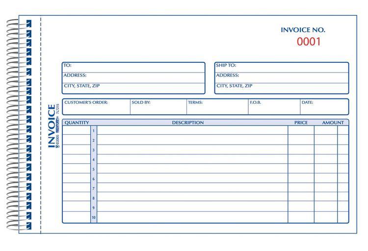 7L721S Invoice Blnk 5X8 Cblss
