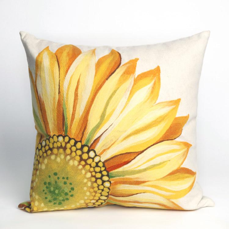 Visions III Sunflower Pillow