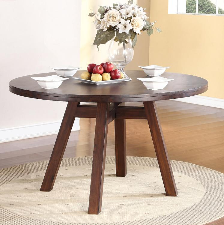 Portland Solid Wood Round Dining Table