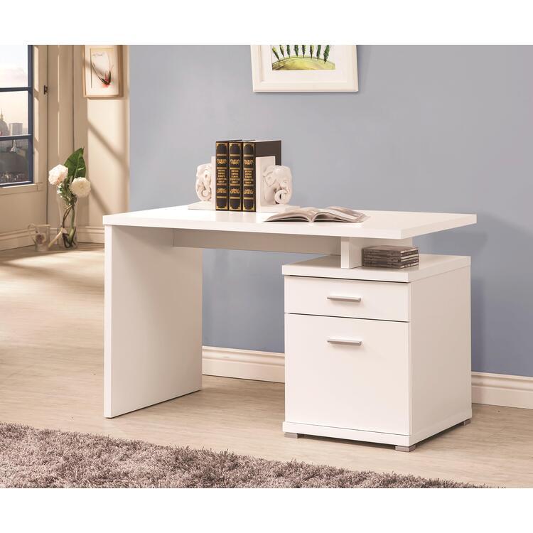 Coaster Contemporary White Executive Desk [Item # 800110A]