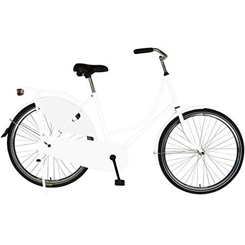 Dutch Style Bike with Chain Guard and Dress Guard, 26 inch wheels, 22 inch frame, Women's Bike, White