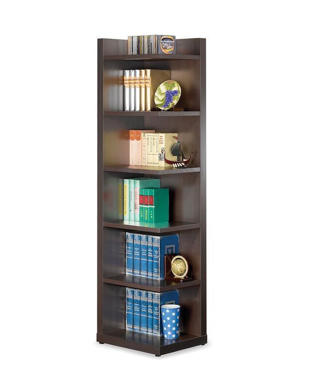 Coaster Transitional Cappuccino Corner Bookcase
