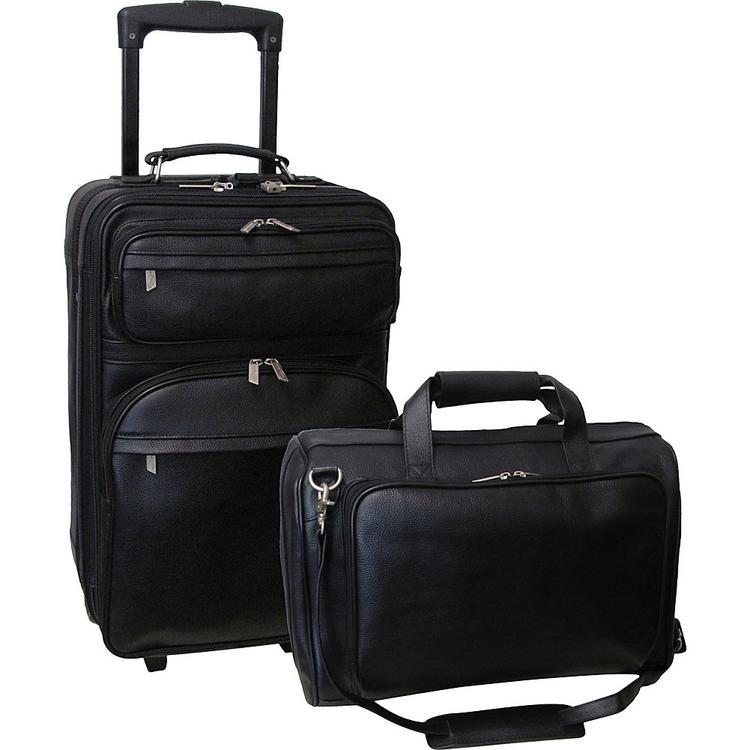 Amerileather Leather 2-piece Luggage Set
