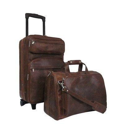 Amerileather Leather 2-piece Luggage Set