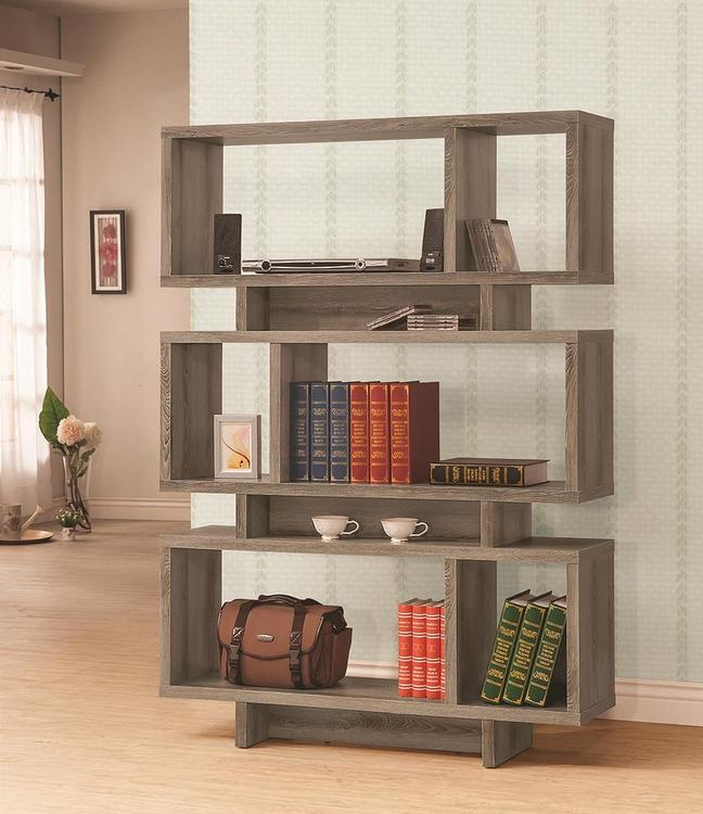 Coaster Contemporary Weathered Grey Bookcase [Item # 800554]