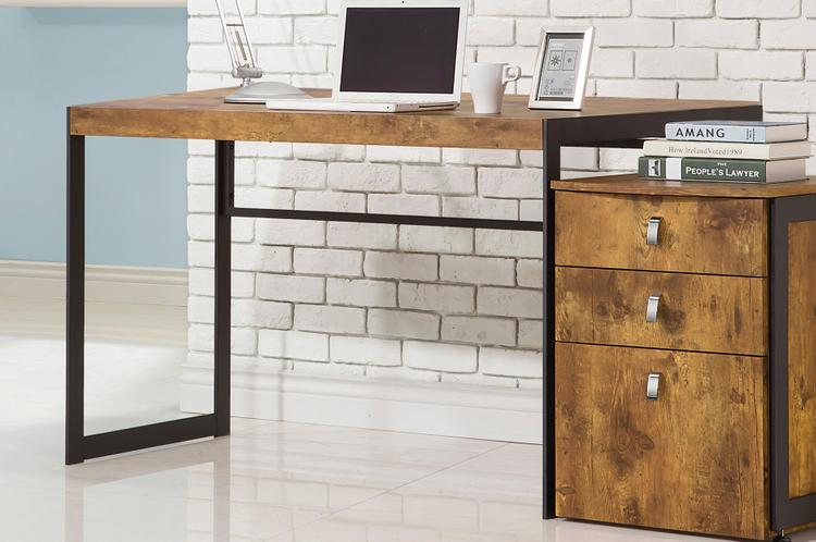 Estrella Industrial Computer Desk with Metal Frame