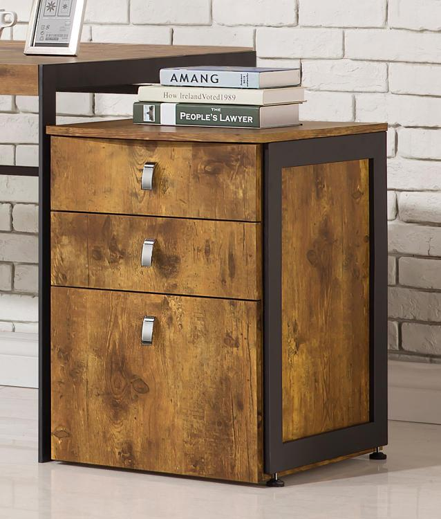 Coaster Estrella Industrial Antique Nutmeg File Cabinet