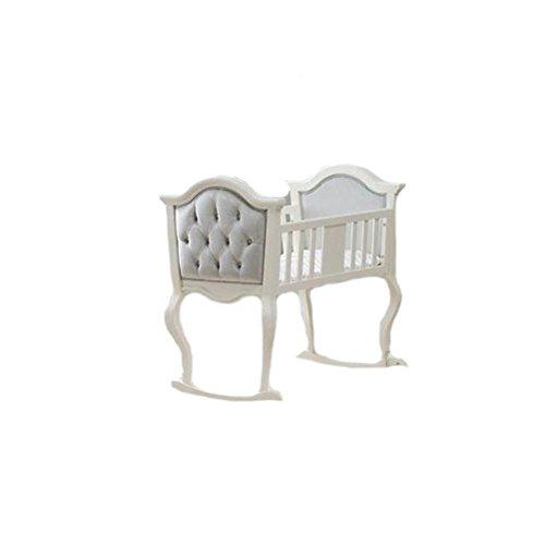 Orbelle French White Lola Cradle w Silver Padding