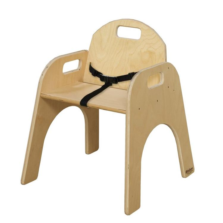 Wood Designs Wood Classroom Chair with belt strap