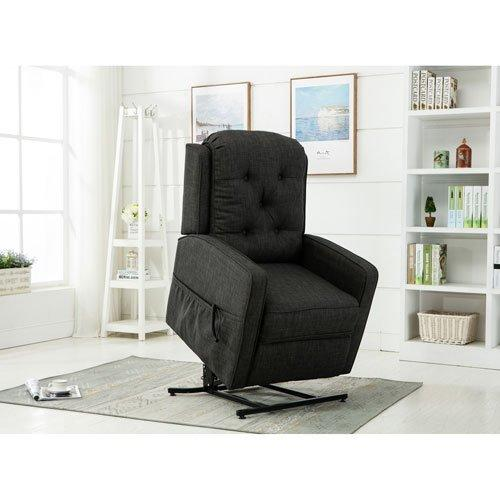 Paxton Charcoal Track Arm Lift Chair