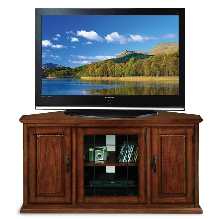 Leick Home Leaded Glass Corner TV Stand