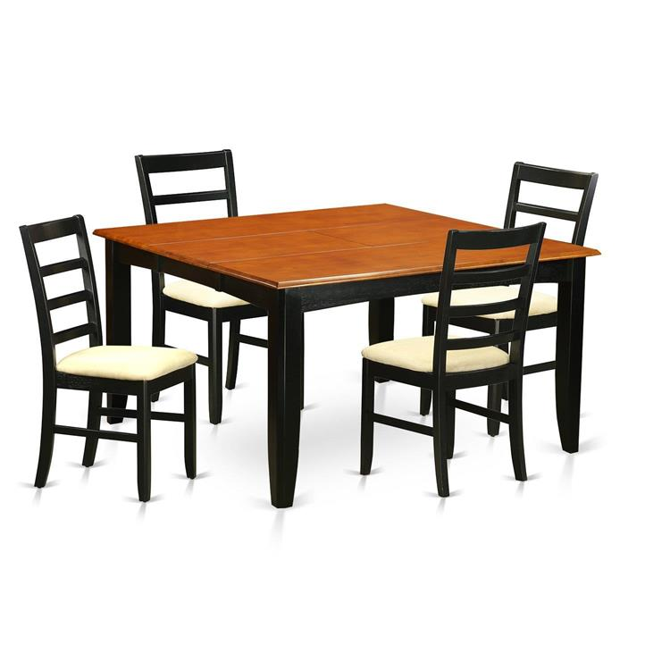 East West Furniture Kitchen Table Set-Dining Table And 4 Wooden Dining Chairs