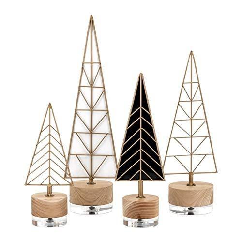 Deco Christmas Trees - Set of 4