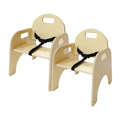 Wood Designs Wood Classroom Chair with belt strap, 2-Count