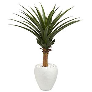 Agave Artificial Plant in White Planter [Item # 8091D]