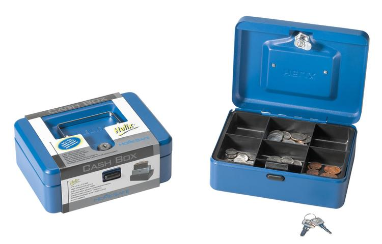 81010 Cash Box W/ Lock Blue