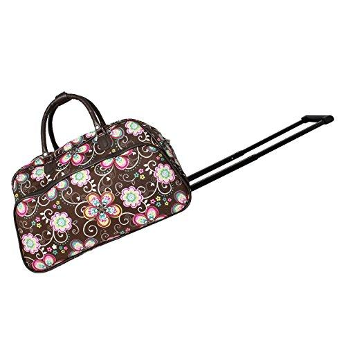 9951fabaa8 World Traveler 21-Inch Carry-On Rolling Duffel Bag - Brown Daisy